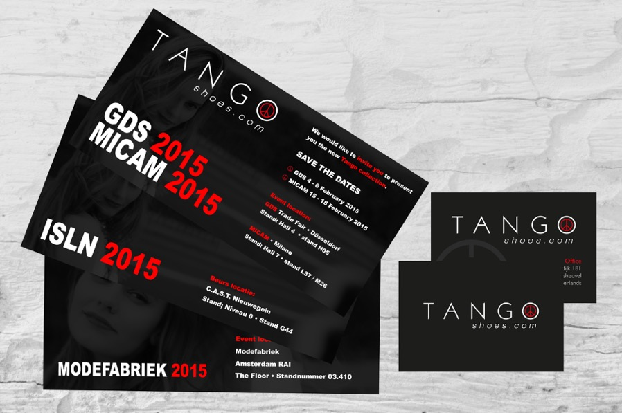 Tango Shoes visitekaartje