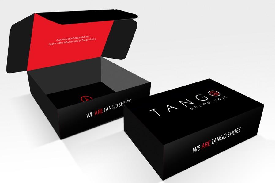 Tango Shoes Promotie materialen schoenendoos By Grafische vormgeving Breda