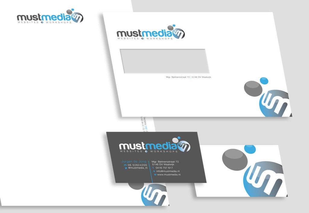 mustmedia ontwerp huisstijl By The Sequel