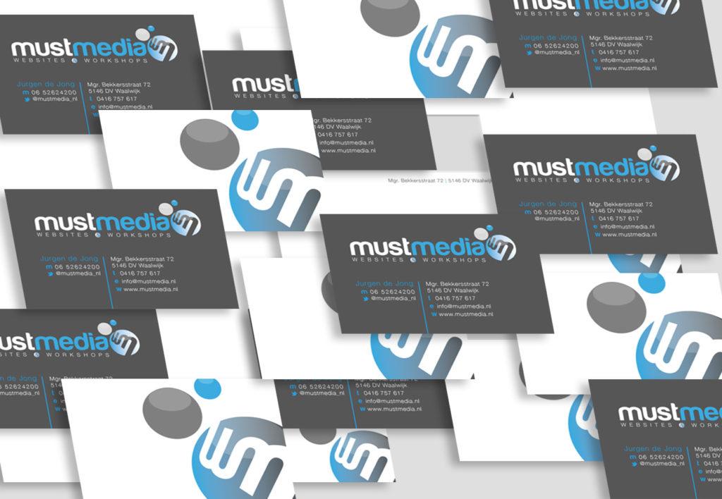 mustmedia ontwerp huisstijl door quintindesign visitekaartje